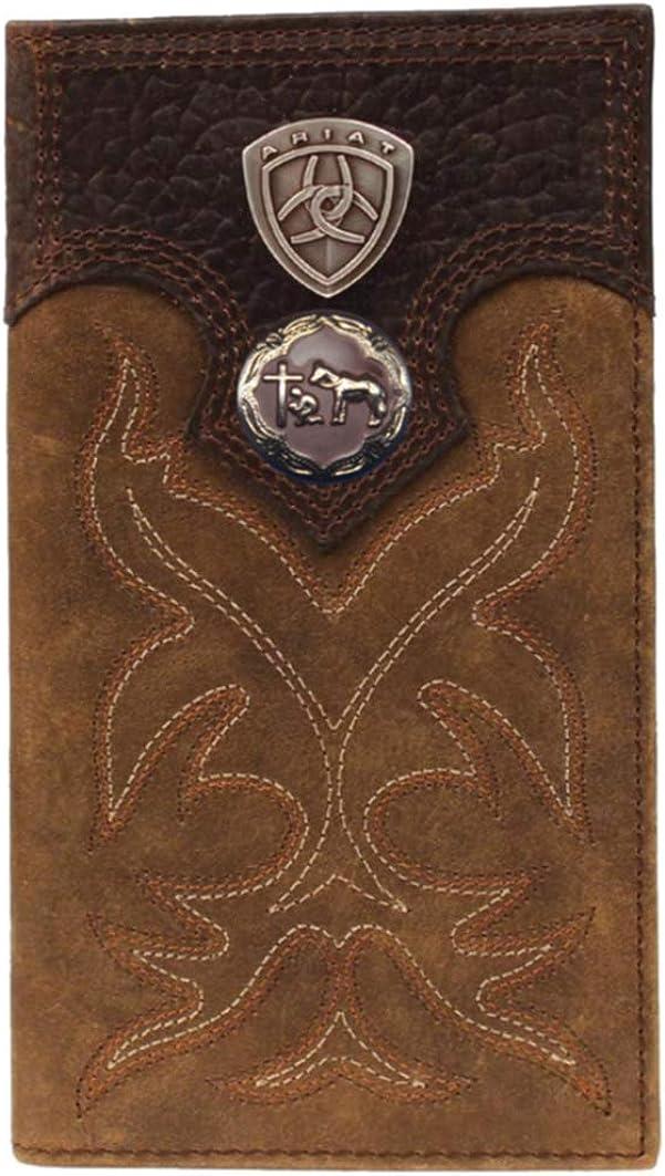 half Custom Sale SALE% OFF Brown Praying Cowboy Church Ta Shield Long Premium Wallet