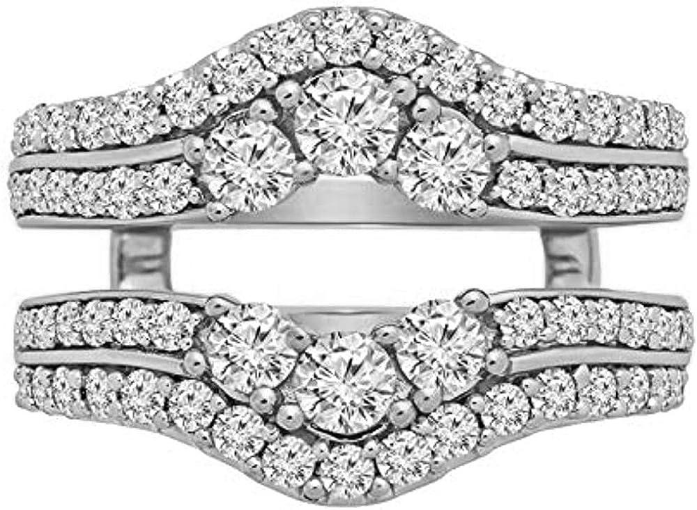 V Touch Round Cut D 着後レビューで 送料無料 VVS1 Diamond Double Enhancer Wedd NEW Engagement