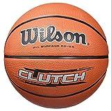 Wilson, Pallone da basket, Clutch, Misura 7, Giallo neon/Blu, Uso all'interno e all'esterno, WTB1434XB