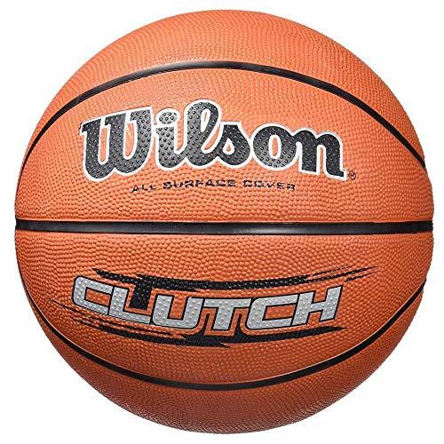 Wilson Outdoor-Basketball, Rauer Untergrund, Asphalt, Granulat, Kunststoffboden, Größe 7, ab 12 Jahre, Clutch, Braun