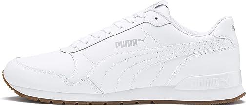 Puma Unisex's St Runner V2 Full L White-Gray Viol Leather Sneakers