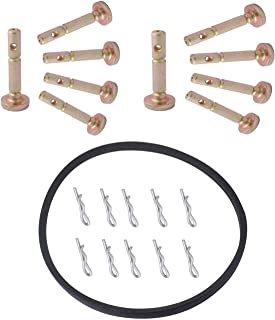 738-04124A Shear Pin 714-04040 Bow Tie Cotter Pin for MTD Troy-Bilt with 954-04195A Auger Belt 754-04195 SnowBlower Replacement Part
