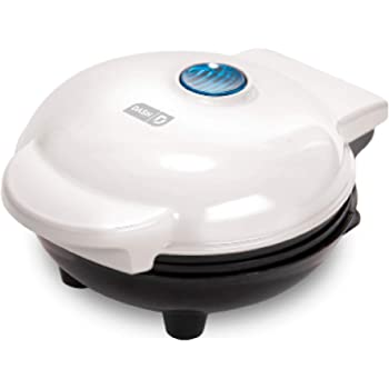 Dash DMW001WH Machine for Individual, Paninis, Hash Browns, & other Mini waffle maker, 4 inch, White
