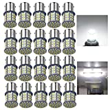 AOKEzl 1156 1141 1003 7506 BA15S LED Bulbs White 20-Packs, Super Bright 3014 64-SMD LED Replacement 12 Volt RV Camper Trailer Boat Trunk Interior Lights