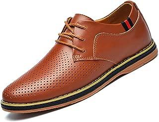 MOHEM Mens Dress Shoes Darren Men's Casual Premium Genuine Leather Lace-up Oxford Shoes