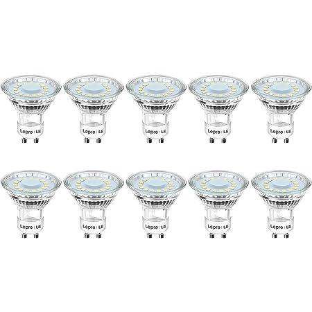 Ampoules LED GU10 L600, Lepro Spots LED Encastrable GU10 4W Équivalent 60W, Blanc Chaud 2700K, Ampoules LED Spot de 120° Larges Faisceaux - 10pcs