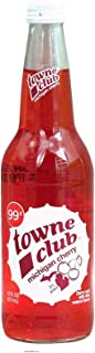towne club michigan cherry, cherry soda with other natural flavors 16 fl oz Glass Bottle (pack of 12)