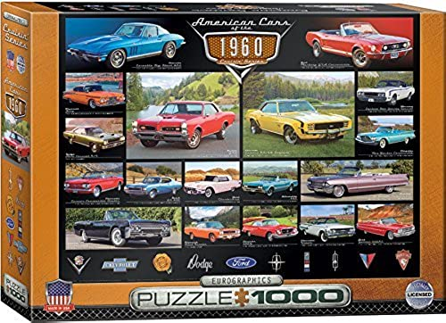 EuroGraphics 1960's Cruisin' Classics Jigsaw Puzzle (1000-Piece) by EuroGraphics