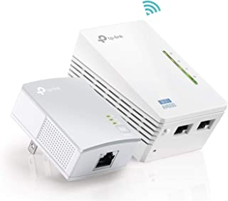 TP-Link AV600 Powerline WiFi Extender - Powerline Adapter with N300 WiFi, Power Saving, Ethernet over Power(TL-WPA4220 KIT)