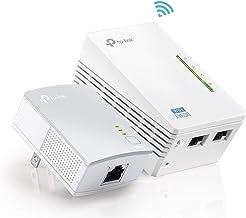TP-Link AV600 Powerline WiFi Extender - Powerline Adapter with WiFi, WiFi Booster, Plug & Play, Power Saving, Ethernet ove...