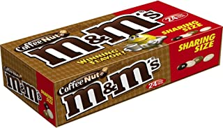 M&M'S Coffee Nut Peanut Chocolate Candy Sharing Size Pouches 3.27 Ounce (Pack of 24)