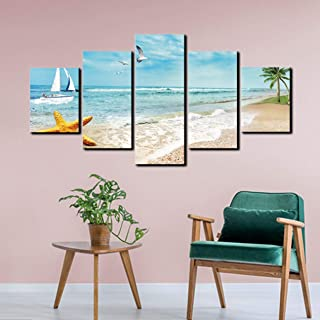 14271LM Beach Seaside Resort Wall Art Prints Canvas Painting Personalized Decoration Living Room
