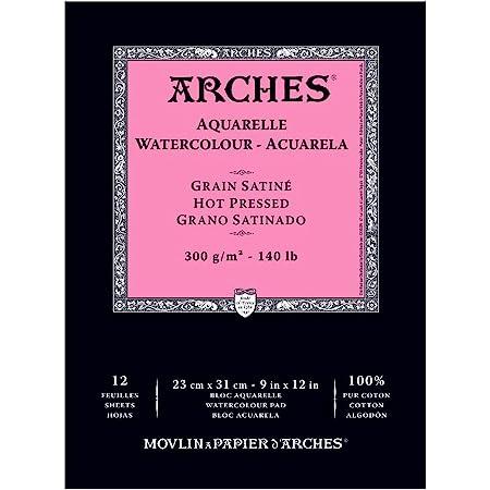 "Arches Watercolor Pad, Hot Press 9""X12"""