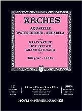 Arches Watercolor Pad, Hot Press 9