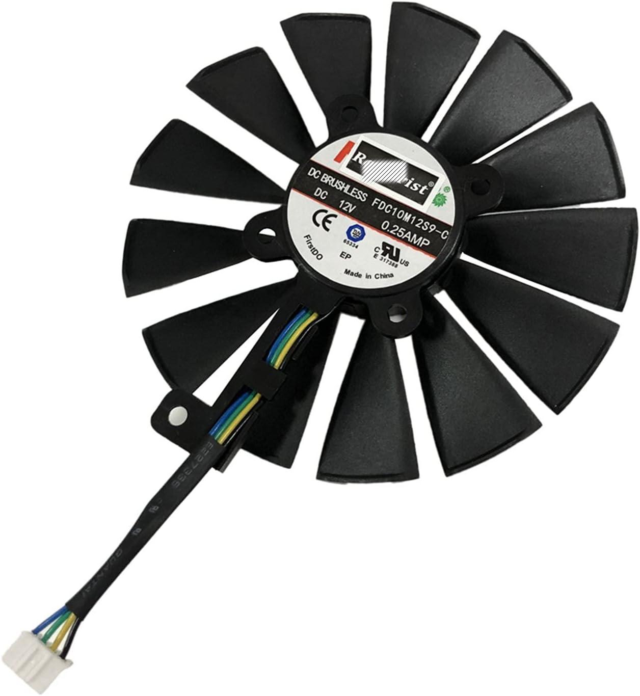95mm 4pin 13 Blades FDC10M12S9-C Ventilador de refrigeración para ASUS ROG Strix Dual RX 580 570 470 GTX1080TI Tarjetas de refrigeración Gráficos
