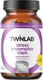 Twinlab Stress B-Complex Caps with Vitamin C, 250 Count, Pack of 1