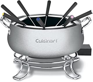 "Cuisinart CFO-3SS Electric Fondue Maker, Brushed Stainless, 6.12"" x 10.50"" x 7.00"""