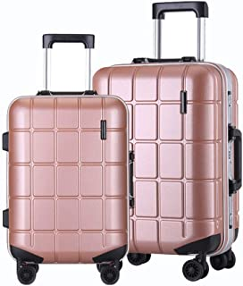 20, Black Color : Black, Size : 20 inches57x36x24cm Suitcase Hand Luggage suitcases Bag Luggage Small 20 Suitcase Light Hard Shell Luggage 4 Rotating Wheels ABS Driving Trolley Case