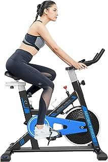 cycool Belt Drive Exercise Bike Stationary Bike Indoor Cycling Bike with Ipad Stand,Comfortable Seat Cushion