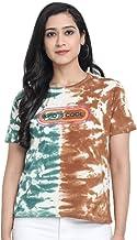 JUNEBERRY Women's Cotton Tie-Dye Regular Fit T-Shirt