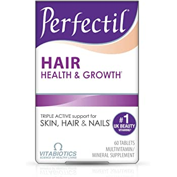 Vitabiotics Perfectil Hair Multivitamin | Hair Growth and Thickening Formula | Supports Thicker, Healthy Hair | Vitamin D, Vitamin E, Collagen, Biotin, and More