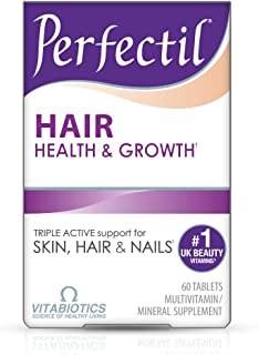 Vitabiotics Perfectil Hair Multivitamin | Hair Growth and Strengthening | Formula for Thicker, Healthy Hair | Vitamin D, V...