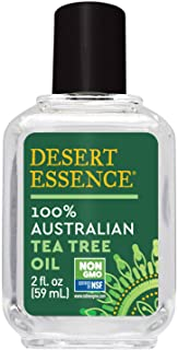 Desert Essence 100% Australian Tea Tree Oil - 2 Fl Oz - Therapeutic Grade Essential Oil - Skin Irritation - Glowing Skin - Home Cleansing - Refreshing - Natural Glow - Pedicure Regimen - Long Lasting