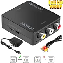 Easycel Mini HDMI to RCA Composite AV CVBS Converter Adapter for Roku Streaming Stick, Amazon Fire TV Stick, Google Chromecast and other HDMI Sticks Use with Older TVs, Supports PAL/NTSC Output, Black