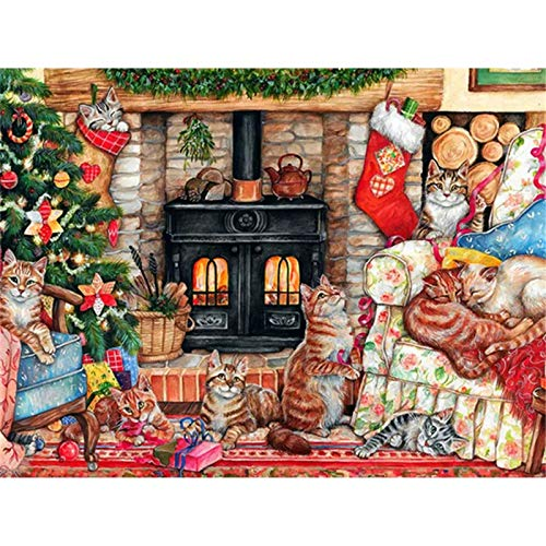 Diamond Painting Kits Full Drill Calcetines navidad 24x36in,DIY 5D pintura diamantes imitación Cristal Grande Bordado punto cruz mano Arte pared Decor Mural Regalos,Square Drill 60x90cm S371