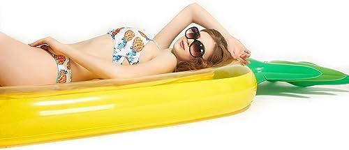 Boombee-swim Aufblasbarer Wasserh ematte Aufblasbare PVC Ananas Form Pool Floats Sitz für Erwachsene Kinder Kinder mädchen Jungen Schwimmen Spielzeug Luftmatratze Aufblasbare