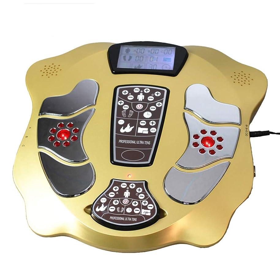 人柄観光に行くオーストラリアスリミングベルトLCDディスプレイと血液循環のための赤外線電気EMSフットマッサージ25パルスモードヒートパッド4ペア