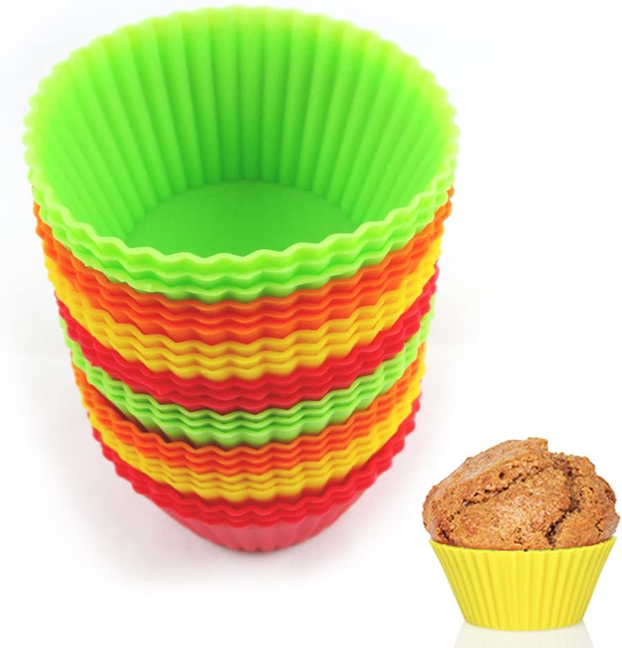 12 Silicone New item Cupcake Liner Holders Baking Bake Easy-to-use Dessert Cho Muffin