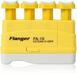 Hand Finger Master Exerciser Strengthener for Guitar Piano or Therapy, Tensions from 3,5,7 lbs, Great Gift for Guitar Beginner Hand Exerciser Finger Strengthener Trainer, FA-10, Yellow - 3 lbs