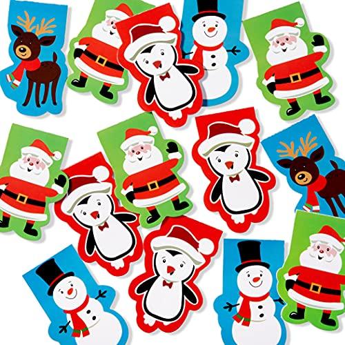 THE TWIDDLERS 40 Block Notes Natalizi con 4 Diversi Disegni di Natale - Ideale Come regalini per riempire Calze, pentolacce, Regalo Confezioni, Sacchetti per Feste e Altro