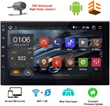 Android Double Din GPS Navigation 2 Din Car Stereo Bluetooth in Dash Touch Screen Radio MirrorLink Autoradio Head Unit Video Player USB/SD Head Unit Free Rear Camera Steering Wheel Control