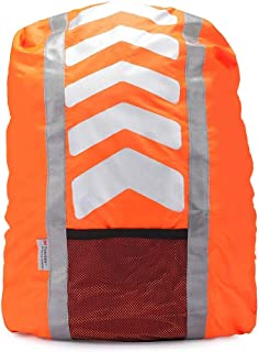 A-SAFETY 3M Reflective Backpack Cover, Rucksack Cover, Bag Rain Cover, High Visibility, Waterproof, Rainproof, Ideal for Cycling and Running