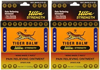 Tiger Balm Sport Rub Pain Relieving Ointment, Ultra Strength 1.70 oz (Pack of 2)