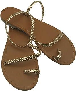 9192094d4c5962 Deep-deep down Thong Sandals Summer Women Flip Flops Weaving Casual Beach  Flat with Shoes