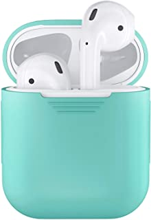 CoWalkers Soft Silicone Case for Apple Airpods Shockproof Cover for Apple AirPods Earphone Cases Ultra Thin Air Pods Protector Case (Diamond Blue)
