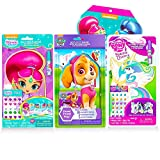 Ultimate Wooden Dress Up Dolls For Girls Bundle ~ 3 Wooden Doll Sets Featuring Paw Patrol, My Little Pony, and Shimmer and Shine With 300 Shimmer And Shine Stickers (Girls Activity Set)