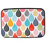 Aluminum Wallet RFID Blocking Slim Metal Credit Card Holder Hard Case (Water Drops Dots)