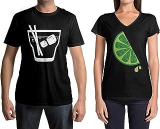 Tequila & Lime Men's & Women's Matching Couples T-Shirt Set