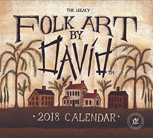 Legacy Publishing Group 2018 12-Month Wall Calendar, Folk Art by David