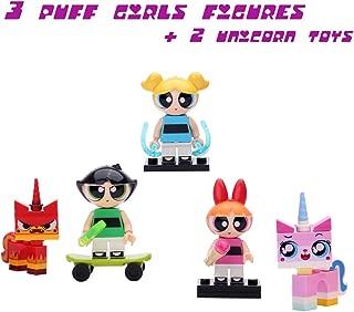 Amazing Figure Toys for Girl   Blossom, Buttercup, Bubbles, 2 Unicorn   5 Minifigure for Girls who Like Unicorns, Princess, Fairy