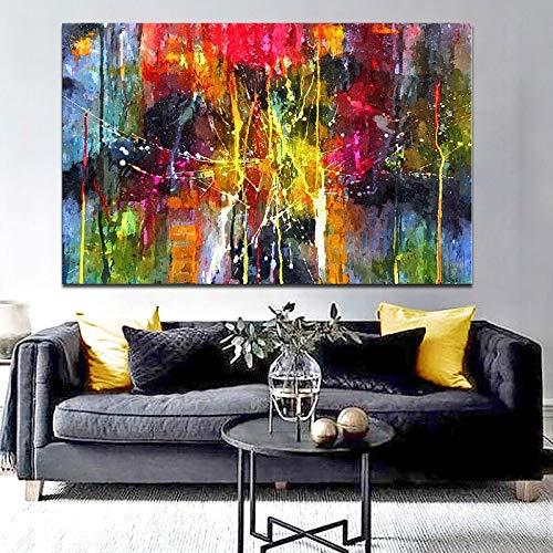 Rahmenlose Malerei Moderne Bunte abstrakte Malerei Bedruckte Leinwand Wandkunst, verwendet für Wohnzimmer WanddekorationZGQ1609 60X90cm