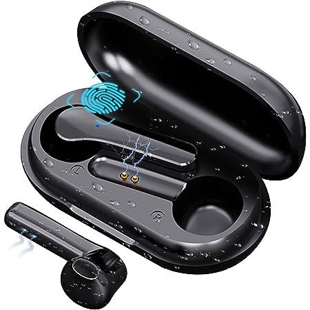 COOSEON Auriculares inalámbricos Bluetooth, Bluetooth con micrófono, Mini Auriculares, reducción de Ruido, Anti-Sudor, Entrenamiento físico, Correr, Andar en Bicicleta, Auriculares ultraligeros