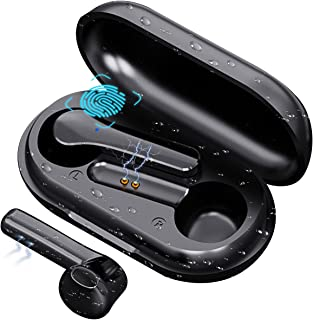 COOSEON Auriculares inalámbricos Bluetooth, Bluetooth con micrófono, Mini Auriculares, reducción de Ruido, Anti-Sudor, Ent...