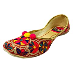 e5485aa72f2c Step n Style Women Casual Jutti Flat Mojari Beaded Sandals Et ...  30.95 · Step  n Style Indian Black Punjabi Jutti Bridal Shoes ...