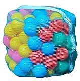 Idena 40117 - Set di palline per tenda da gioco o da ballo, 100 palline in plastica a rete, 5 colori (blu,...