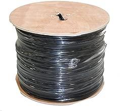 MyCableMart 1000ft RG6 Siamese 18/2 Black HI-Bandwidth Bulk Coax Cable, Black